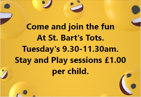 St Bart's Tots – Tuesdays